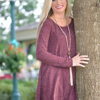 All I Need Burgundy Sweater Dress