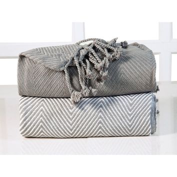 Soft 100-percent Cotton Hand Twisted Throw 50x60 (Set of 2) | Overstock.com Shopping - The Best Deals on Throws