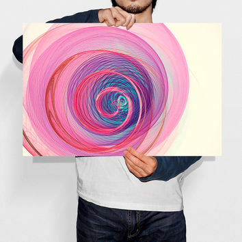 Pink Poster Print Spiral Galaxy Art Nebula Digital download Cosmos Abstract Modern Art Nursery Wall Decor Baby Wall Art