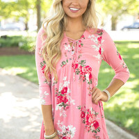 A Storybook Ending Floral Blouse Pink