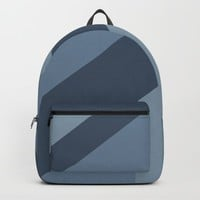 Blue Tones Patchwork Backpack by deluxephotos