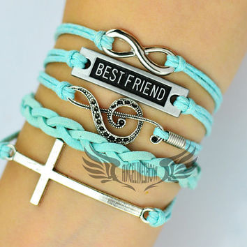 To Infinity and Beyond, Infinity, Cross,Bestfriend,Music, Treble Clef, Music Note, Music Symbol, Christmas Gift, Friendship Gift