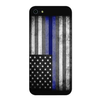 The Thin Blue Line American Police Officer iPhone 5/5S/SE Case