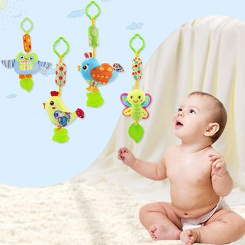 Baby Plush Teethers With Stuffed Cartoon Pet Toy