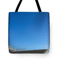 "Motor yacht blue yonder. Tote Bag for Sale by Jan Brons (18"" x 18"")"