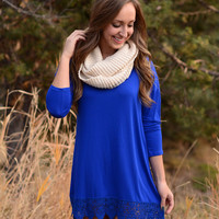 On The Edge Dress- Royal Blue