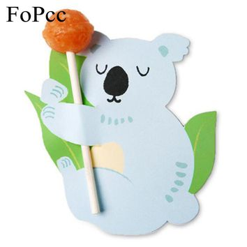 48-50PCS/Set Animals Candy Lollipop Decoration Card Kawaii Halloween Birthday Party Favor Wedding Decoration Diy Gifts For Kids