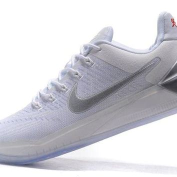 DCCKIJ2 Nike Zoom Men's Kobe A.D.EP Basketball Shoes White