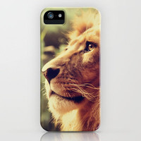 Lion iPhone Case by Jazza Vock
