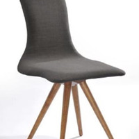 Modrest Tracer Modern Espresso Fabric Dining Chair
