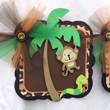 Jungle banner, jungle name banner, Safari name banner, Safari baby shower, jungle baby shower, jungle decorations, Safari decorations,