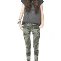 Brandy ♥ Melville |  Evelyn Army Print Pants - Bottoms - Clothing
