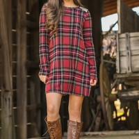 A Christmas Story Dress-Red