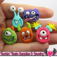 Jesse James Buttons 5 pc MAD for MONSTERS OR Turn them Into Flatback Decoden Cabochons