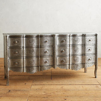 Hand-Embossed Six-Drawer Dresser