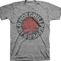 RED HOT CHILI PEPPERS - ASTERISK CIRCLE MENS TEE, FEATURING BUTERY SOFT TRI-BLENDED FABRICATION, SHORT SLEEVES.