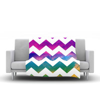"Beth Engel ""Lucky Chevron"" Fleece Throw Blanket"