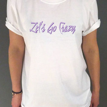 Prince T-Shirt RIP Prince Symbol Let's Go Crazy Music Fan Inspired T-Shirt Unisex  Tumblr tshirt womens, sassy cute fashion