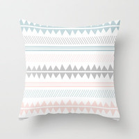 In Aztec Throw Pillow by HelloM