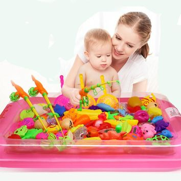 Magnetic Fishing Toy Rod Net Set For Kids