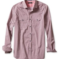 Banana Republic Mens Slim Fit Star Print Utility Shirt