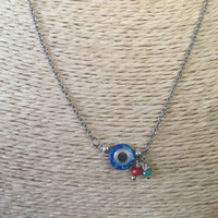 Opal Evil Eye Necklace