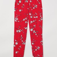 Pull-on Pants - Red/floral - Ladies | H&M US