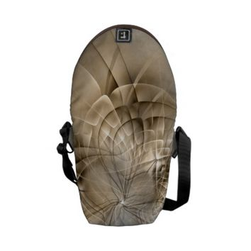 Earth Tones Abstract Modern Fractal Art Texture Courier Bag