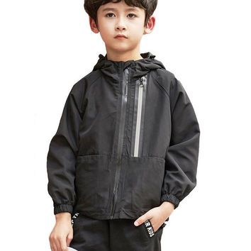 Boys Jacket Windbreaker Jacket Boys Waterproof Hooded Casual Children Clothing Kids fashion Outwear
