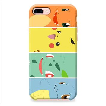Bulbasaur Squirtle And Charmander Pikachu iPhone 8 | iPhone 8 Plus Case