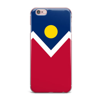 "Bruce Stanfield ""Denver Colorado City Flag"" Vector Geometric iPhone Case"