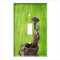 Light Switch Cover - Light Switch Plate Vintage Golf Clubs Bag