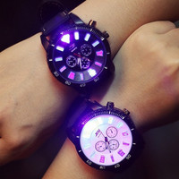 Harajuku style trend stunning  luminous led watches fashion female high school students, Ms. couple watches JDB-054 = 1930090180