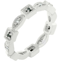 Square and Oval Eternity Band
