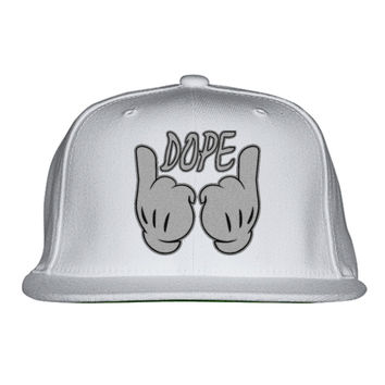 Cartoon Dope Hands Embroidered Snapback Hat