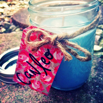 Mason Jar Scented Soy Candles 8 ounces