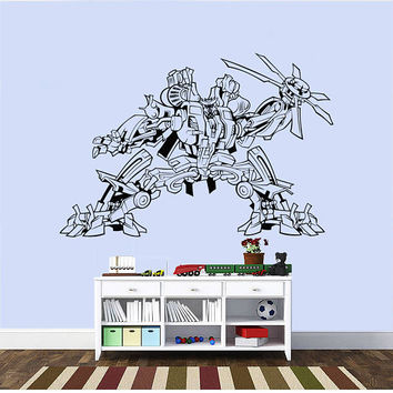 Transformers Wall Decal,Prime Wall Sticker,Bumblebee wall decal,Kids Wall sticker,Bedroom Wall Sticker,Nursery wall decal kau 266