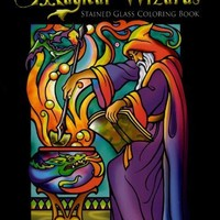 Magical Wizards Stained Glass Coloring Book (Dover Stained Glass Coloring Book)