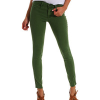 Genetic Denim Raquel Cigarette Silk Crop in Meadow