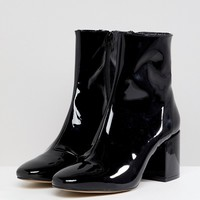 ASOS DESIGN Rosana Leather Block Heeled Boots at asos.com