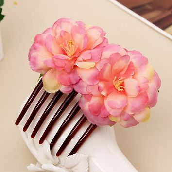 New Party Hair Clips Hair Combs Flower Bridal Wedding Headwear Women Girl Bohemia Hairpins Beach Party Barrettes Accessories