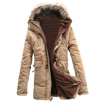 SAF-Winter Warm Fleece Parka Dreadnought Trench Jacket Duffle Coat