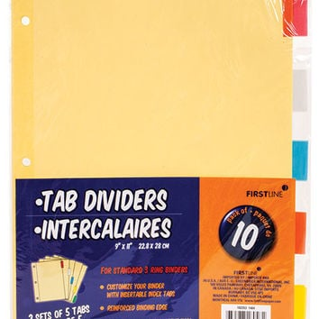 Bulk Firstline Color Tab Dividers, 10-ct. Packs at DollarTree.com
