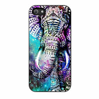 Elephant Aztec In Galaxy Nebula Space iPhone 5s Case