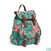 Wholesale Floral printed backpack for fashionable girls Manufacturers & Suppliers 2016
