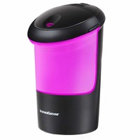 USB Car Essential Oil Air Refresher Ultrasonic Aromatherapy Diffusers with 7 Colorful LED Lights for Office Travel Home Vehicle