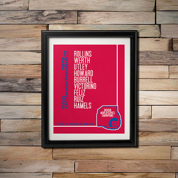 2008 World Series Champions -  Philadelphia Phillies Citizens Bank Park Game 5 Starting Line Up 16X20 Poster