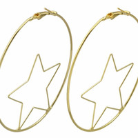 Magic and Manifest Witchy Witchy 18K XL Star Hoops