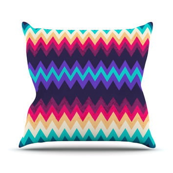 "Nika Martinez ""Surf Chevron"" Throw Pillow"