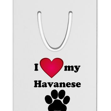 I Heart My Havanese Aluminum Paper Clip Bookmark by TooLoud